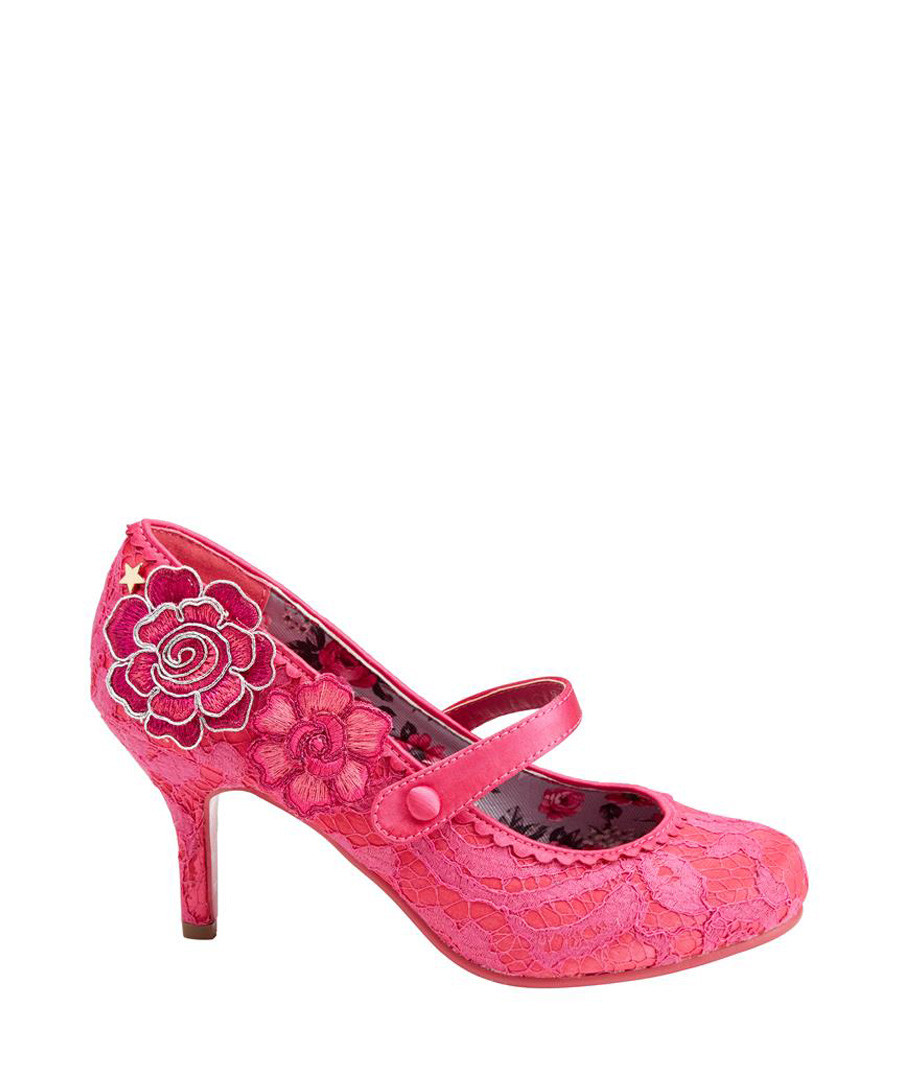 Floozie fuchsia floral Mary Jane shoes Sale - joe browns