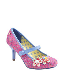 Malia pink & blue floral Mary Jane shoes