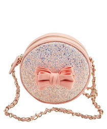 Sugar & Spice peach glitter cross body