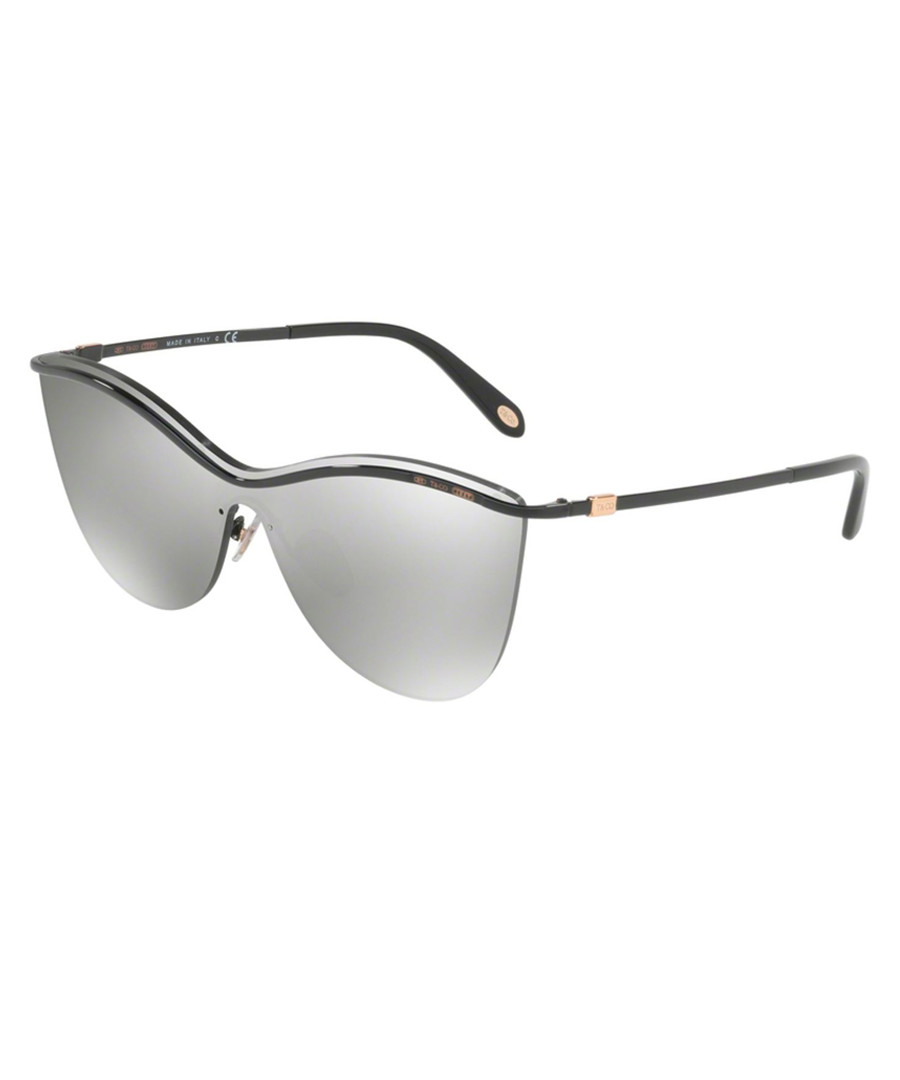 9063eaad9c Black   silver mirror cat eye sunglasses Sale - Tiffany ...