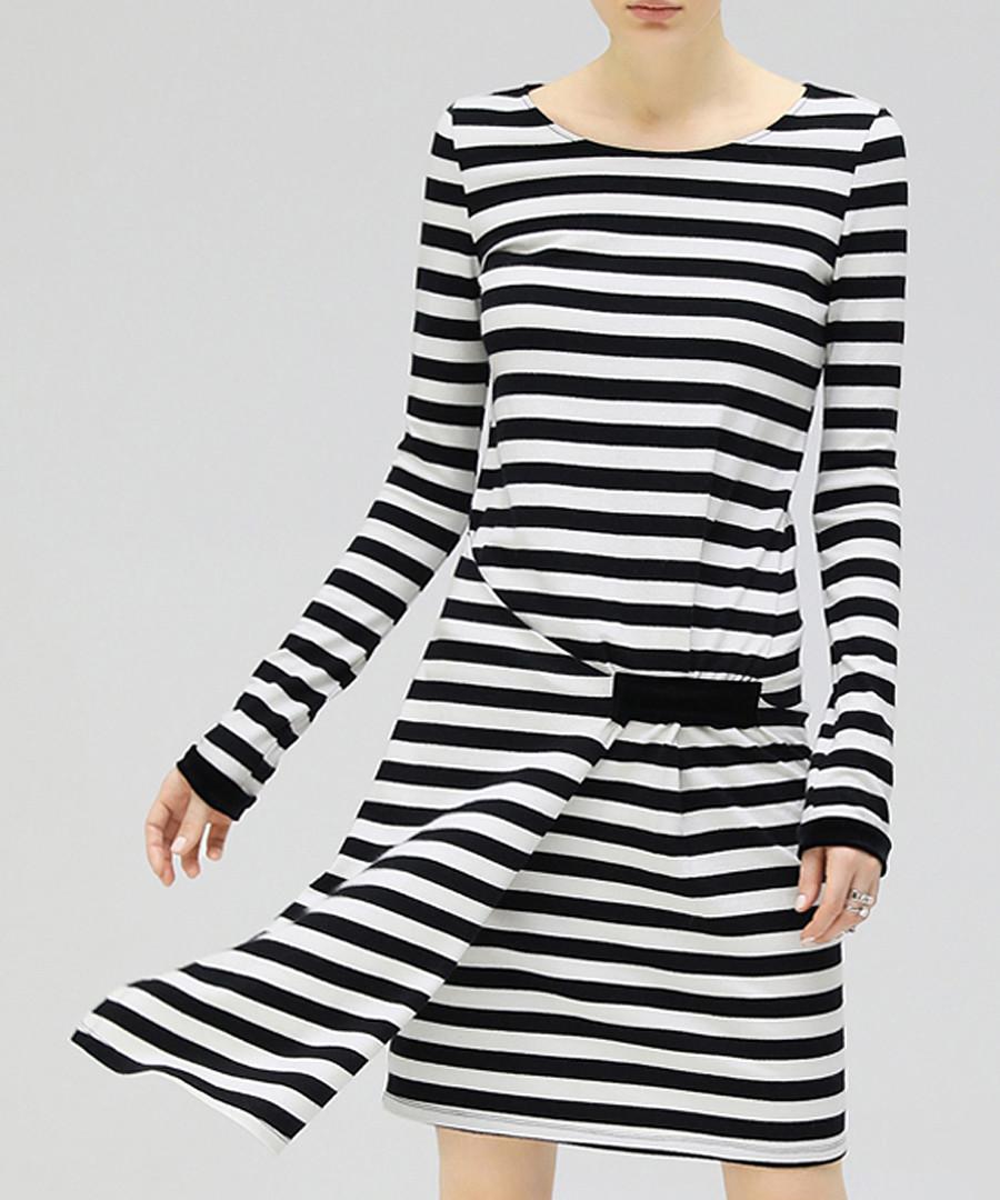 Black & white stripe layered dress Sale - cocobella