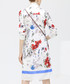 White floral twisted shirt dress Sale - cocobella Sale