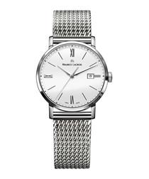 Eliros silver-tone & white dial watch