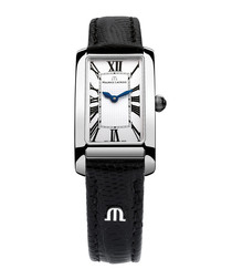 Fiaba black rectangular dial watch