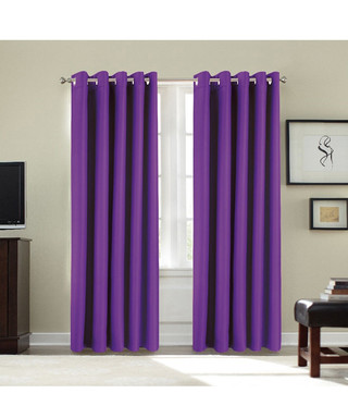 Purple Blackout Curtains 46 X 54 Sale