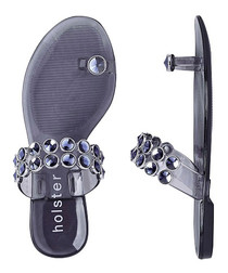 Bejewelled blue sandals
