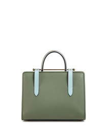 The Strathberry Midi sage leather bag