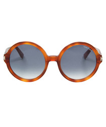 Juliet bright havana & blue sunglasses