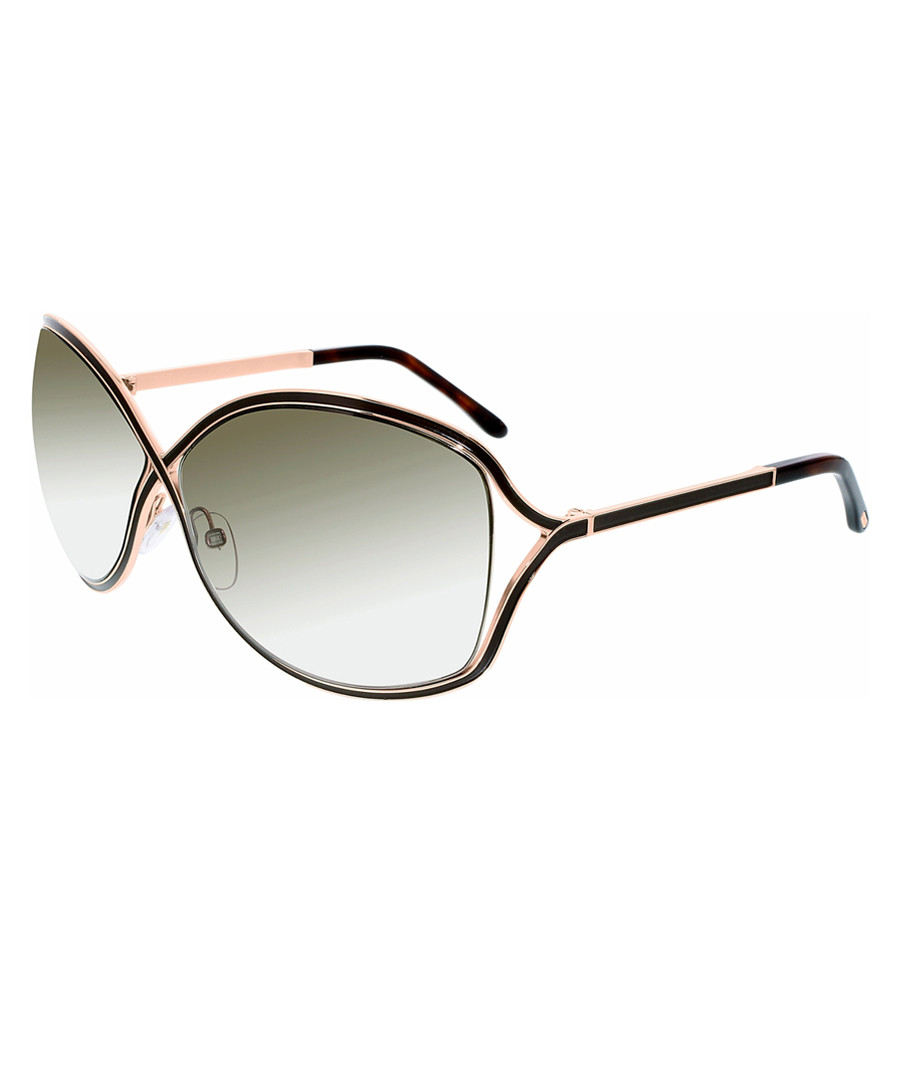 218ecc459836a Rickie brown   gold-tone sunglasses Sale - TOM FORD ...