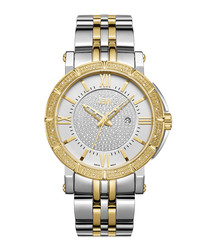 Vault 18ct gold plated diamond watch