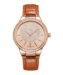 Camille 18k rose gold-plated watch