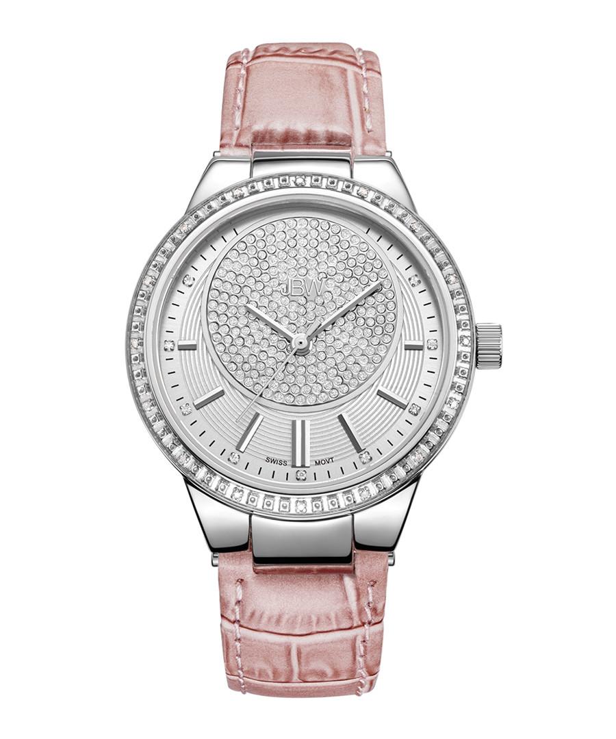 Camille silver-tone & pink diamond watch Sale - JBW