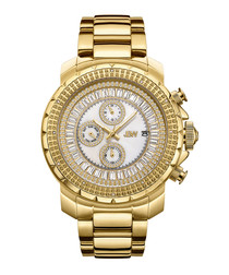 Titus 18ct gold-plated diamond watch