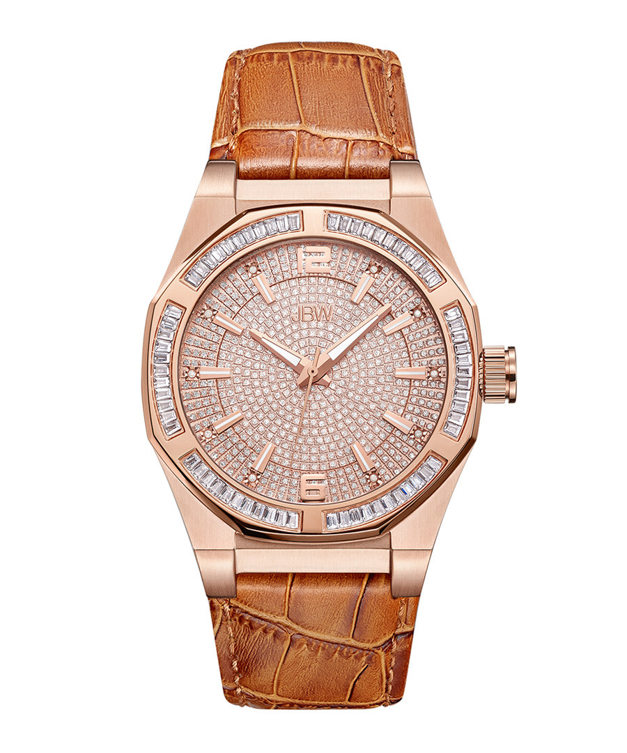 Apollo 18k rose gold-plated watch Sale - jbw