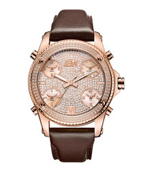 Jet Setter 18ct rose gold-plated watch