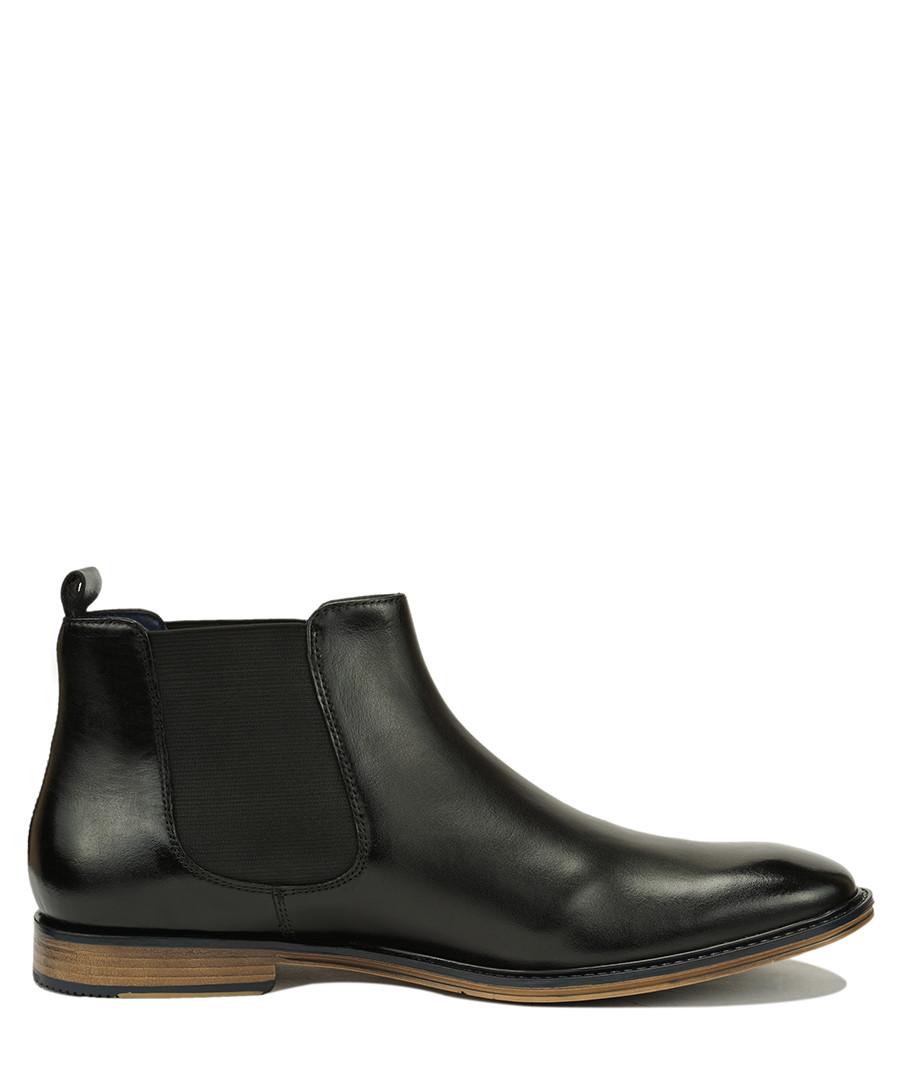Aden black leather Chelsea boots Sale - Scott Willams