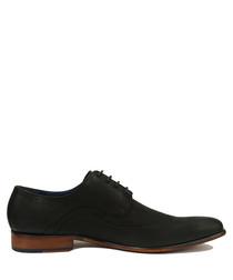 Evan black leather Derby shoes