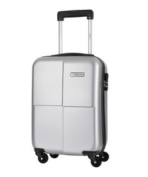 Century silver spinner suitcase 46cm