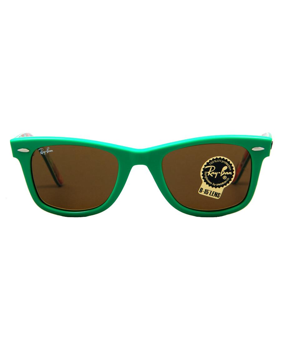 056c6ed6f87e5 Wayfarer green floral sunglasses Sale - RAYBAN