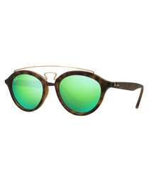 Gatsby brown & green sunglasses