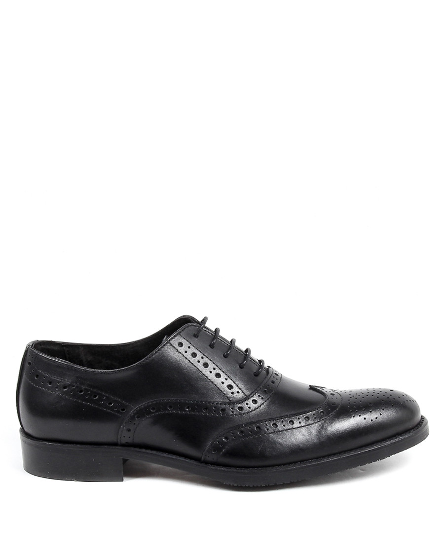Black leather perforated brogues Sale - versace 1969 abbigliamento sportivo