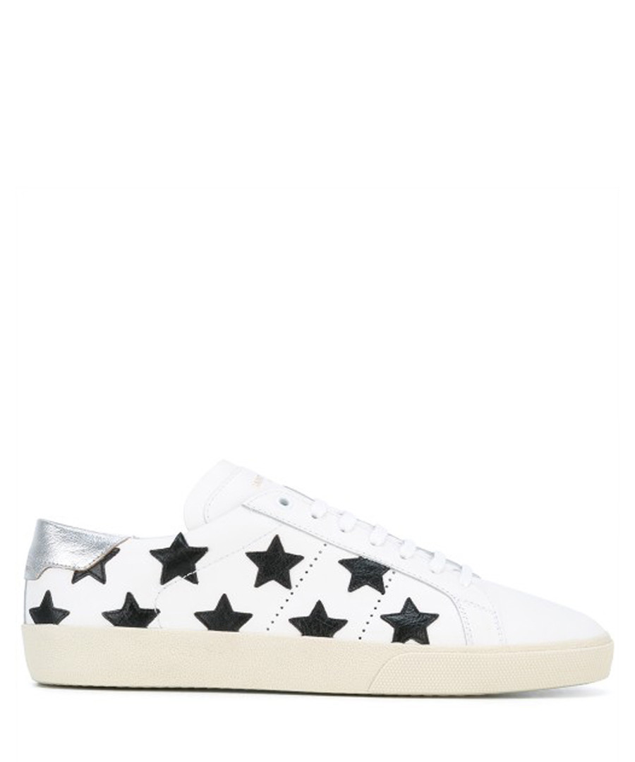 California white leather sneakers Sale - saint laurent