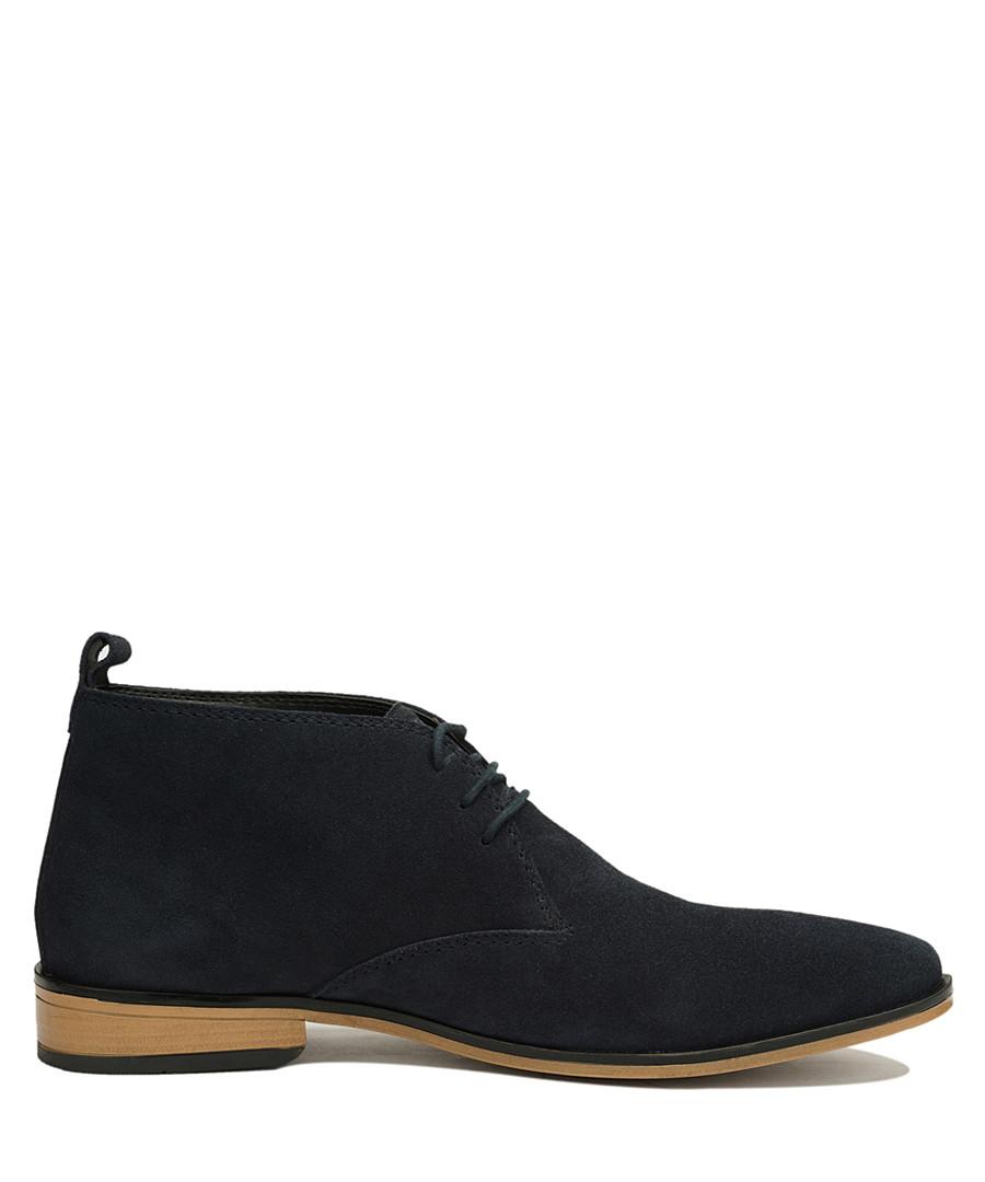 Navy blue suede desert boots Sale - Amati Regazzi