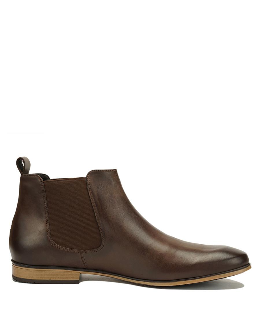 Brown leather Chelsea boots Sale - Amati Regazzi