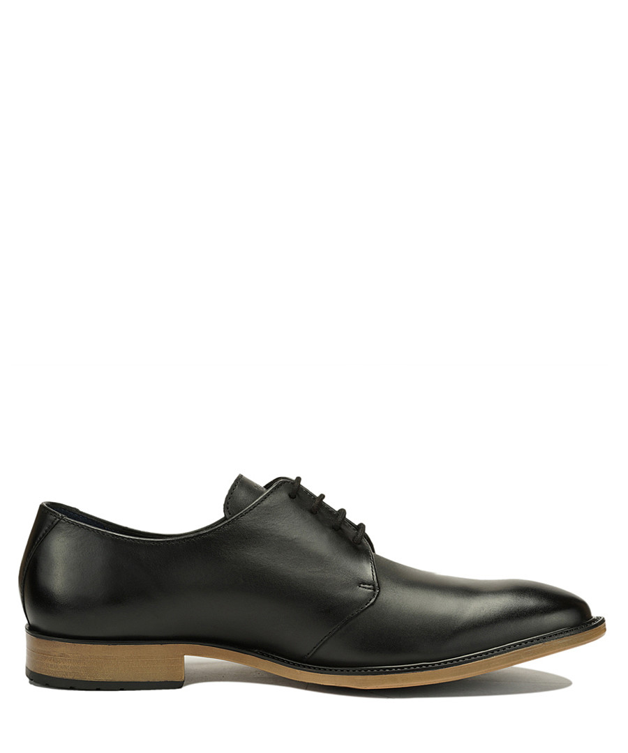 Black leather contrast heel Derby shoes Sale - Amati Regazzi