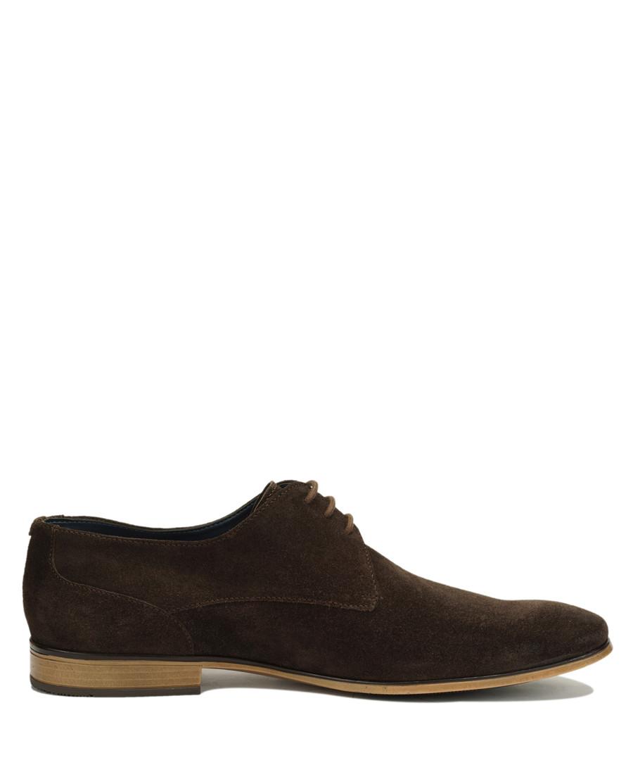 Brown suede Derby shoes Sale - Amati Regazzi