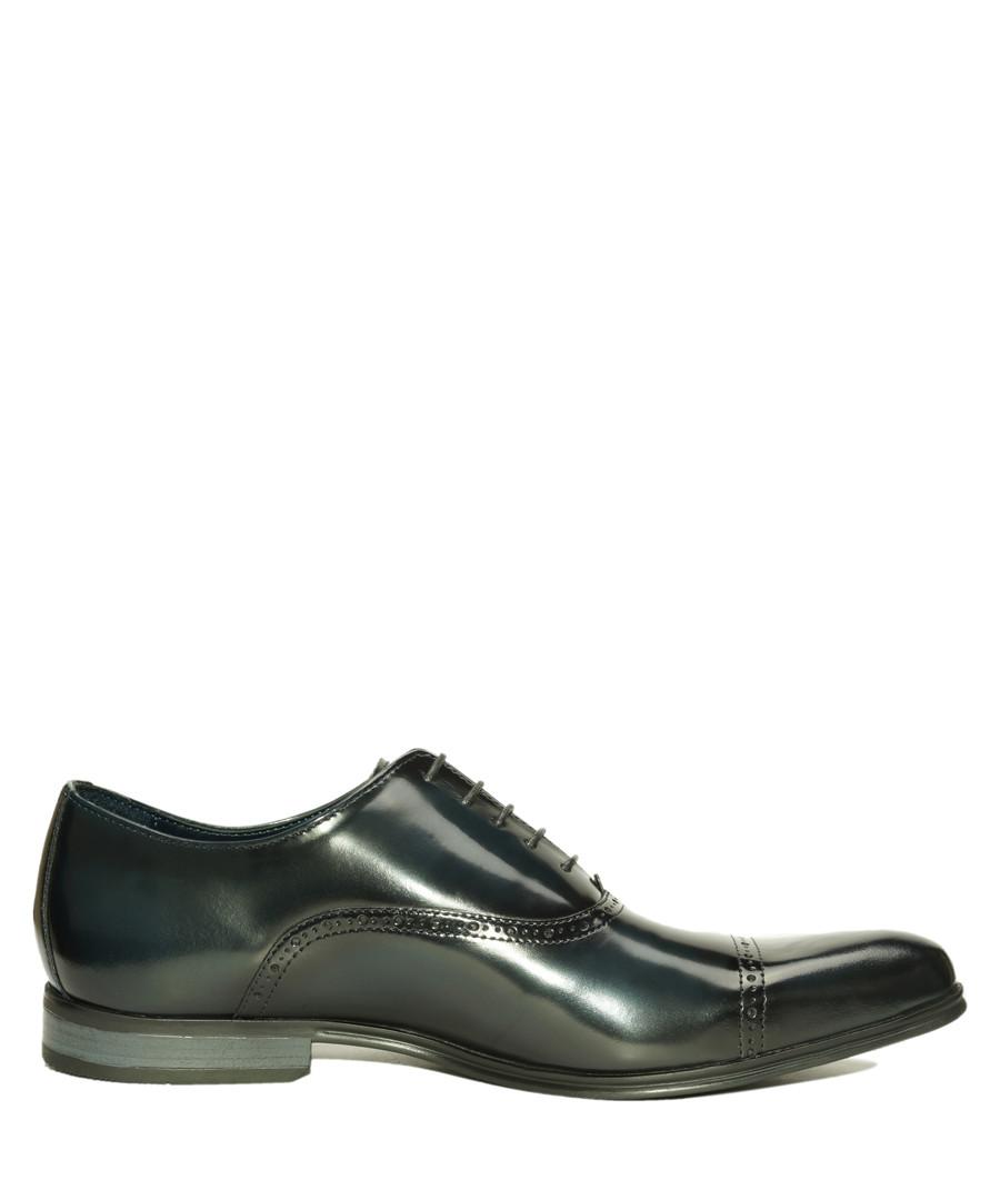Navy blue patent leather Oxford shoes Sale - Amati Regazzi