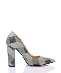 Miranda leather thick court heels