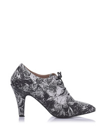 Shem leather lace up boot heels