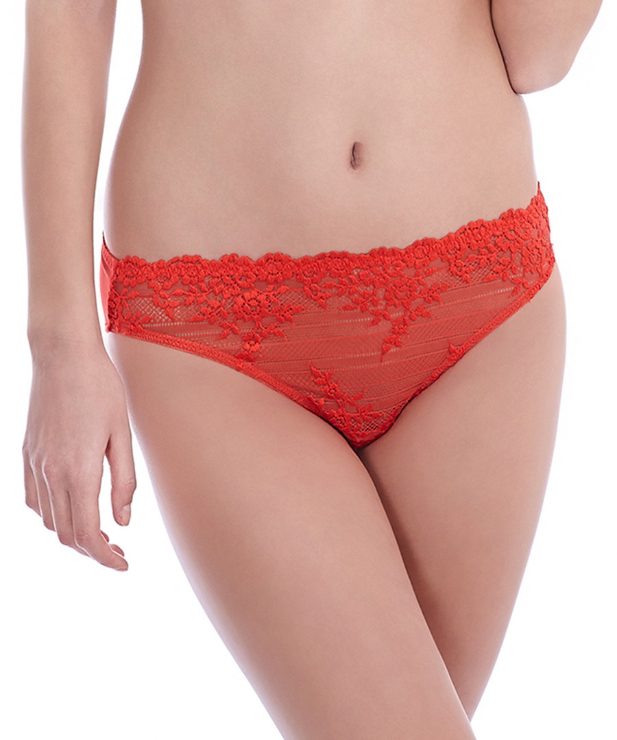 Embrace Lace red brazillian briefs  Sale - Wacoal