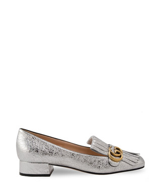 9c01e9c209b Gucci. Women s Marmont silver leather loafers