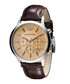 Brown leather & champagne dial watch Sale - Emporio Armani Sale