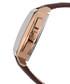 Carrée brown leather moc-croc watch Sale - mathis montabon Sale