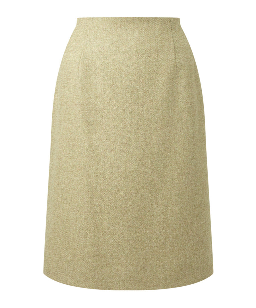 Harriet green wool catkin pencil skirt Sale - Really Wild Clothing