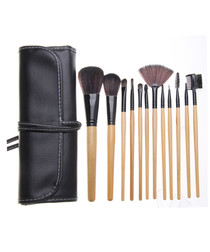 12pc Professional wood make-up brushes