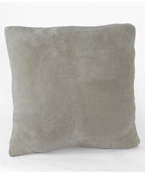 Microfleece grey super soft cushion