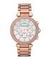 Parker rose gold-plated crystal watch Sale - Michael Kors Sale