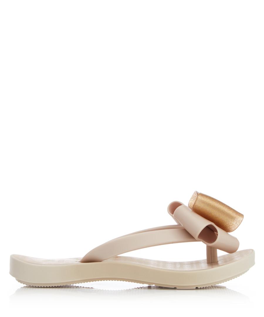 Girl's Link Twin ivory flip flops Sale - zaxy