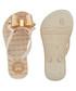 Girl's Link Twin ivory flip flops Sale - zaxy Sale