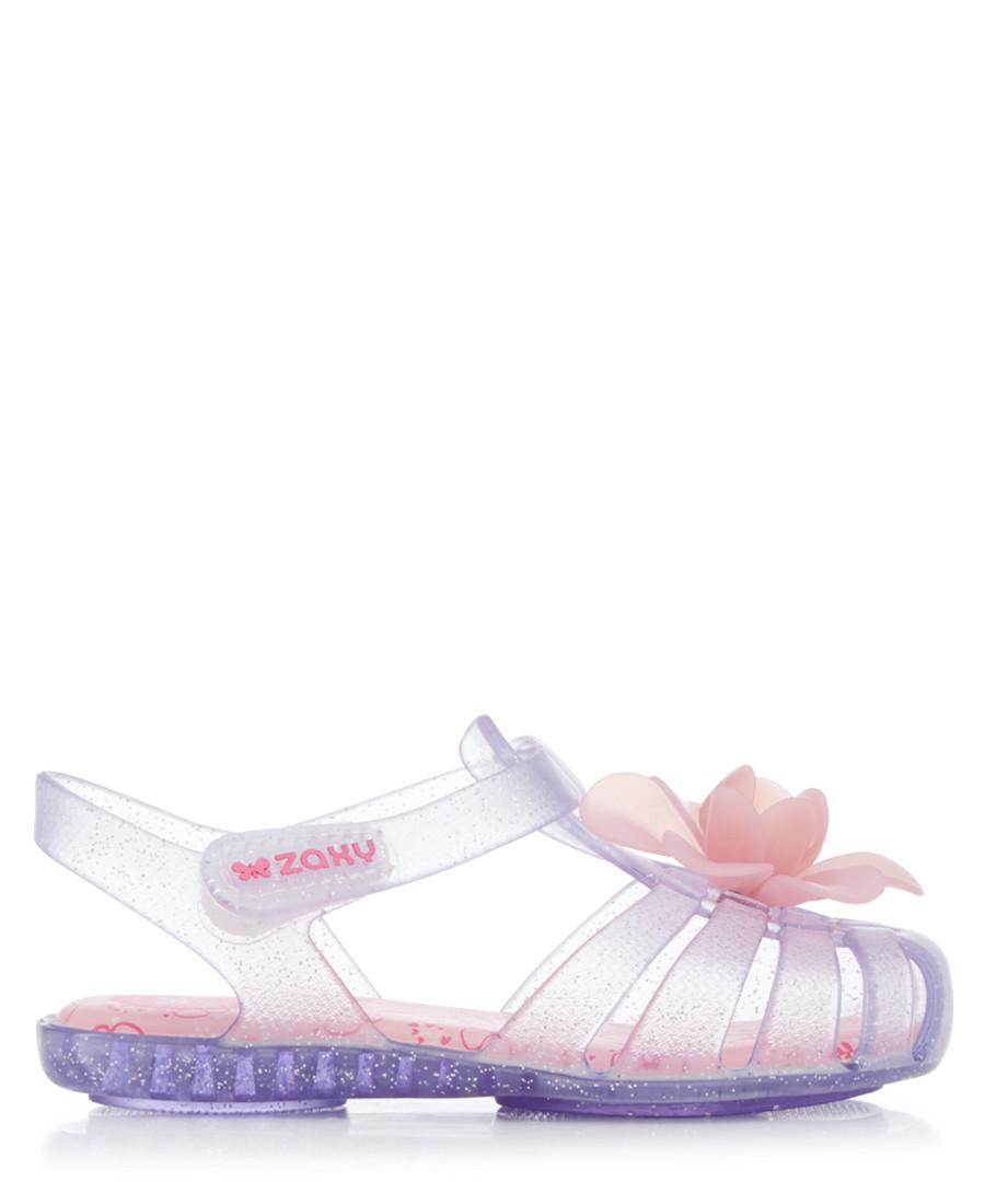 Kids' Bloom clear glitter sandals  Sale - zaxy