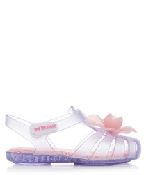 Kids' Bloom clear glitter sandals