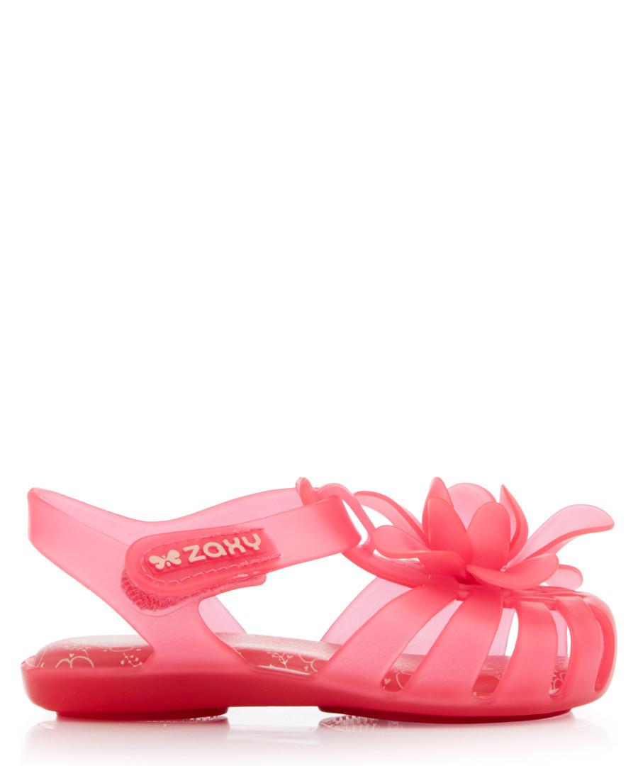 Kids' Bloom neon pink flower sandals  Sale - zaxy