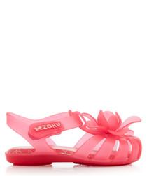 Kids' Bloom neon pink flower sandals