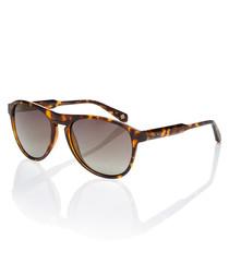 Farrell tortoiseshell round sunglasses