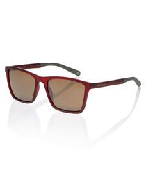 Wade burgundy & brown sunglasses
