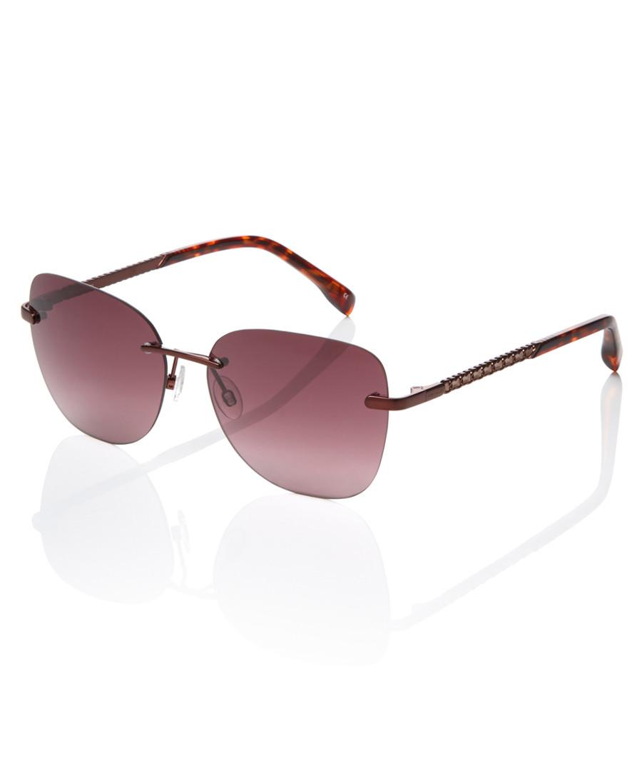 72c34070b4e Brown rimless sunglasses Sale - Karen Millen